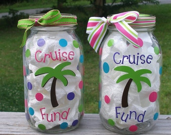 SALE Personalized Sweet 16 New Driver Gas Fund Money Jar |Gas Money Jar Pottery