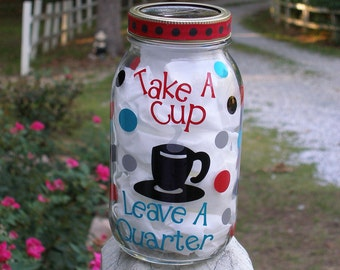 Coffee Fund Jar Coin Bank