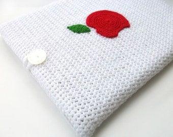 Crochet Laptop Sleeve 13 Inch, Mac Air Case, Mac Pro Case, Mac Book Case, Mac Book Sleeve - An Apple a Day