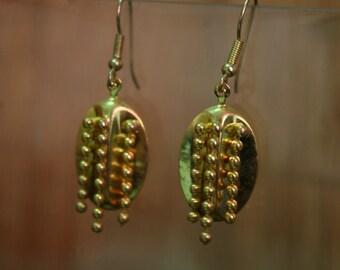 80's - Gold Oval Earrings