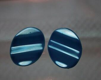 80's - Blue Post Earrings