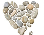 Watercolor Print  - 8x10 - Pebbles No.27 Limited Edition Art Painting by Lorisworld