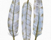 Original Watercolor Painting Feather Art - Feather No.10 - by Lorisworld