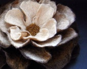 Caramel Irish Cream Chocolate Coffee Felt Flower Brooch