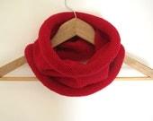 Red cowl - hand knitted circular neckwarmer - Winter Fashion - Free Shipping Worldwide