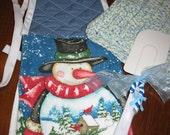 Kitchen Gift Set - Hanging dishtowel, crocheted dishcloth, spatula, ornament