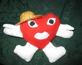 Small Country Adorable stuffed red heart for your loved one