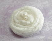 White Vintage Lace Clip/Headband RESERVED