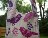 Purple Birds Baby Bib