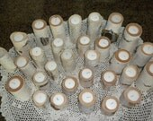 10  sets of 3  Tealite White Birch Candle Holder Perfect for Weddings, Centerpieces