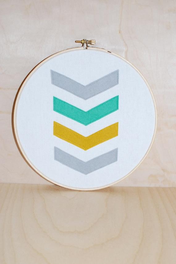 Chevron . Embroidery Hoop Art