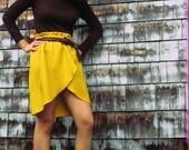NEW Mustard Colored Tulip Skirt