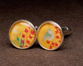 Cuff Links Birds and Bees
