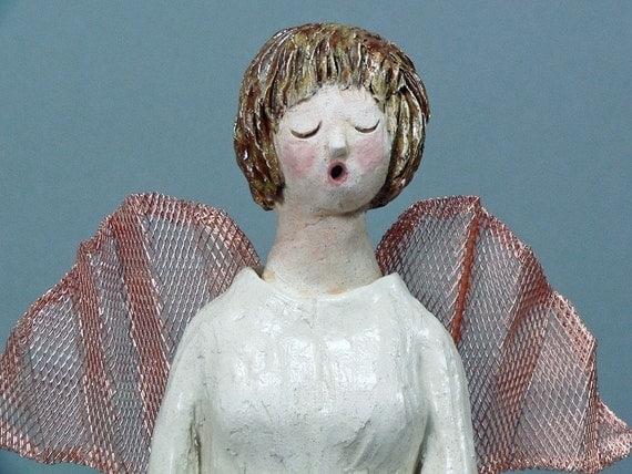 ANGELENA, the SINGING ANGEL - Original Clay Sculpture