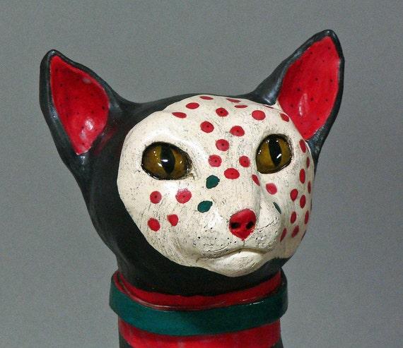 BEAMER,   From a Galaxy Far Far Away - Original Ceramic Cat Sculpture