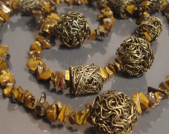 Tiger Eye Long Necklace