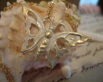 Vanessa - FREE SHIPPING Shabby Chic butterfly necklace