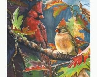 Cardinals Sharing the Fall