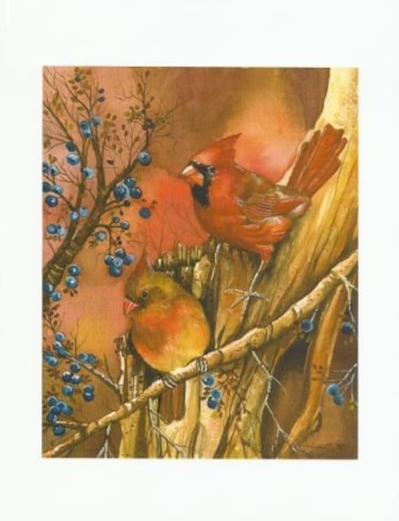 Fall Cardinal Print
