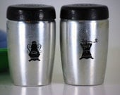 Aluminum Salt And Pepper Shakers