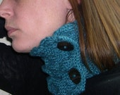 Teal Cowl - Knitted cowl - Neck Warmer - Women Scarf - Winter 2014 - Winter Fashion - Emerald Green Cowl