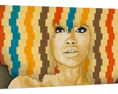 Erykah Badu Portrait - 18x36 Limited Edition Canvas Print