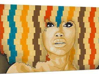 Erykah Badu Portrait - 18x36 Limited Edition Canvas Print