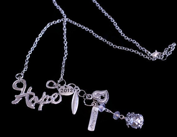 Class of 2012 Graduation/Homecoming Necklace - Hope, Peace, Prosperity, Love - Last one
