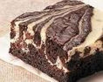 4  Large  Cream Cheese Swirl Brownies