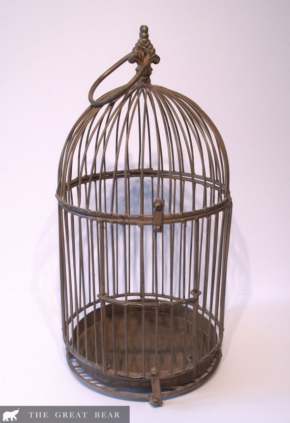 large antique bird cage. Black Bedroom Furniture Sets. Home Design Ideas
