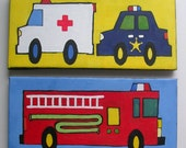 Rescue Vehicles -  Acrylic on Canvas