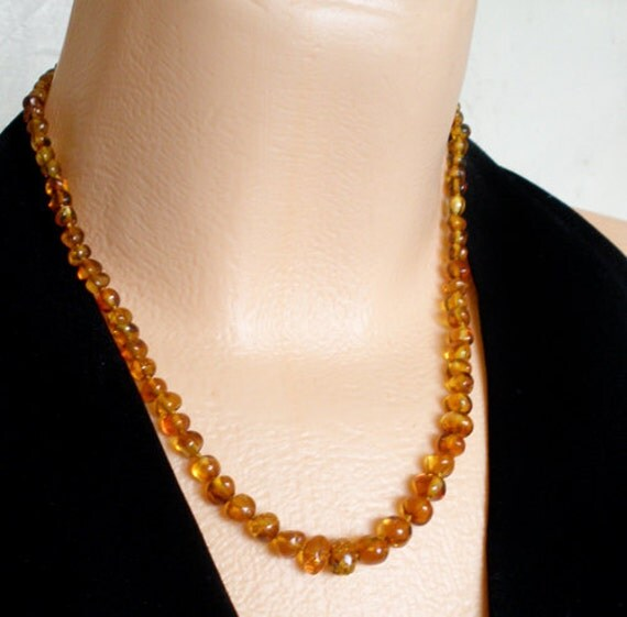 """18.7"""" - Amber Baltic knotted necklace"""