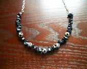 The Born This Way- Glam Polka Dot and Flat Sparkly Gemstone Necklace