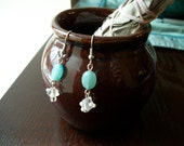 The Fantasy- Amazonite and Glass Dangle Earrings