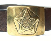 Belt Buckle USSR Soviet Russia army brass