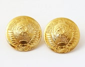 Set of 2 Soviet Russia USSR Army Uniform Buttons gold color buttons