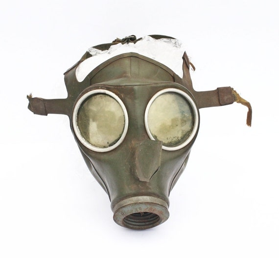 Rare WW2 German gas mask from war period by Militaria on Etsy