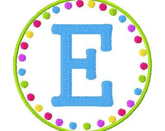Circle Dot Monogram Embroidery Font Design Set, Machine Embroidery Designs, Embroidery Font, Monogram Designs // Joyful Stitches