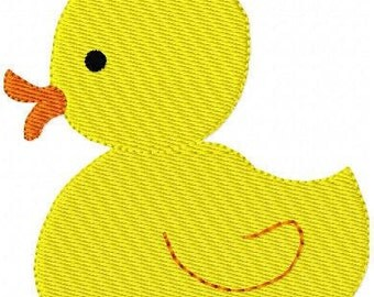 INSTANT DOWNLOAD Duck Duckie Machine Embroidery Design