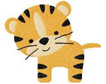 Embroidery Design, Tiger , Little Tiger Embroidery // Joyful Stitches
