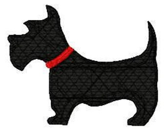 Scottie, Dog, Doggy, Puppy, Machine Embroidery Design, Dog Embroidery Design // Joyful Stitches