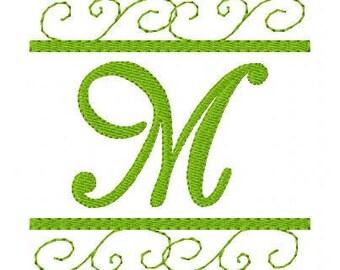 Monogram Machine Embroidery Font Design Set, Scrolls,  Swirls,  Machine embroidery designs, monogram design, mongram font // Joyful Stitches