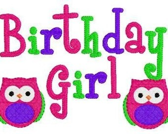 Birthday Girl Owl Machine Embroidery Design // Joyful Stitches