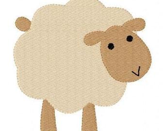Sheep Nativity Machine Embroidery Design // Joyful Stitches