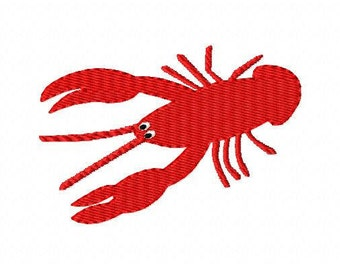 INSTANT DOWNLOAD Crawfish Machine Embroidery Design