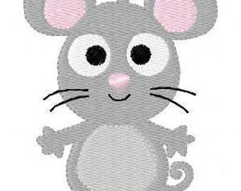Mouse Machine Embroidery Design // Joyful Stitches