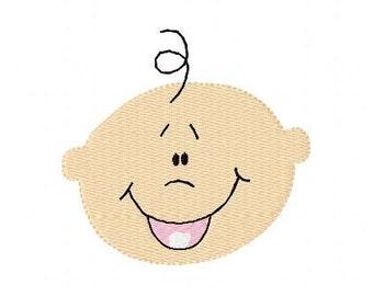 Happy Baby Face Machine Embroidery Design // Joyful Stitches