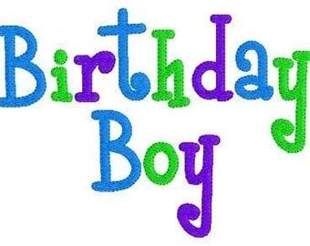 Birthday Boy Machine Embroidery Design // Joyful Stitches