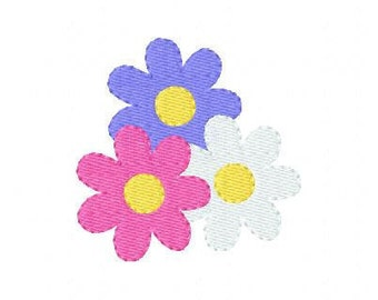 INSTANT DOWNLOAD Daisies Machine Embroidery Design