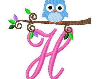 Spring Baby Owl // Monogram Machine Embroidery Design Set, Machine Embroidery Designs, Embroidery Font // Joyful Stitches